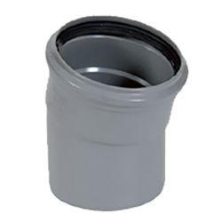 PVC grijs benor bocht 15° dia.125 1 mof