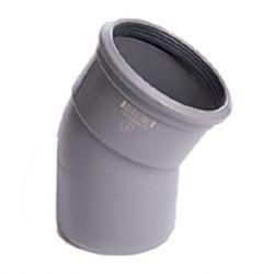 PVC grijs benor bocht 30° dia.125 1 mof