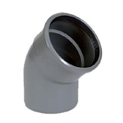 PVC grijs benor bocht 45° dia.160 1 mof