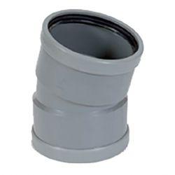 PVC grijs benor bocht 15° dia.125 2 mof