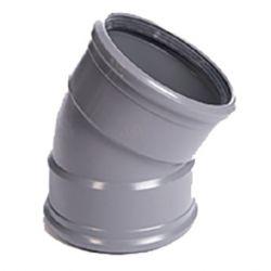 PVC grijs benor bocht 30° dia.125 2 mof