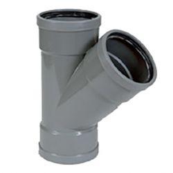 PVC grijs benor Y-stuk 45° dia.125 3 mof