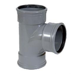 PVC grijs benor T-stuk 90° dia.110 3 mof