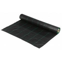 Worteldoek zwart geweven rol 25x2.1m