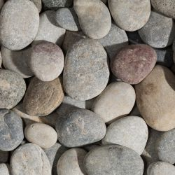 BEACH PEBBLES Flat Gray 40/60 - big bag - per 1500kg