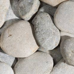 BEACH PEBBLES Flat Gray 60/80 - big bag - per 1500kg