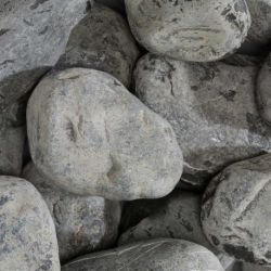 BEACH PEBBLES Black 60/100 - big bag - per 1000kg