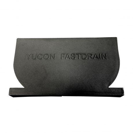 YU FastDrain 75 BLACK eindstuk inspectieluik