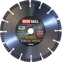 Gedimax diamantschijf BETON - 230mm