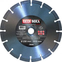 Gedimax diamantschijf UNIVERSAL LASER - 230mm