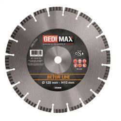 Gedimax diamantschijf BETON - 125mm
