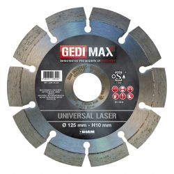 Gedimax diamantschijf UNIVERSAL LASER - 125mm