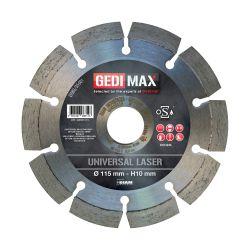 Gedimax diamantschijf UNIVERSAL LASER - 115mm