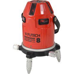 FUTECH MC8 HPSV kruislijnlaser Rood + Statief 300cm + ontvanger