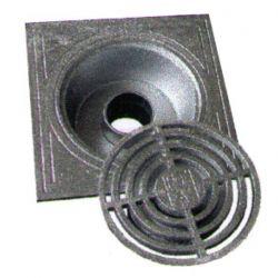 Klokrooster aluminium 15x15