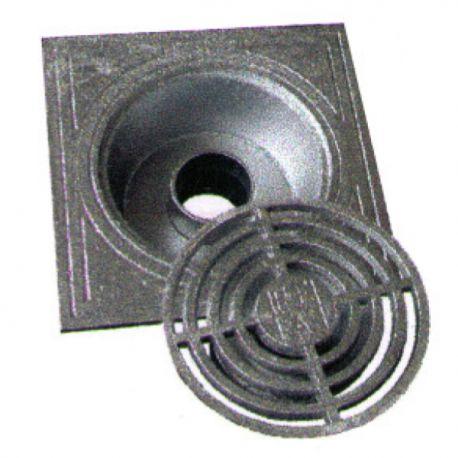 Klokrooster in aluminium 250x250 mm