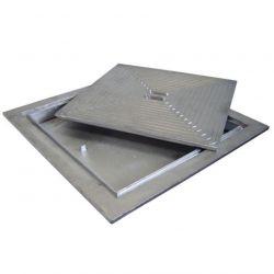 Putdeksel aluminium dubbel 60x60