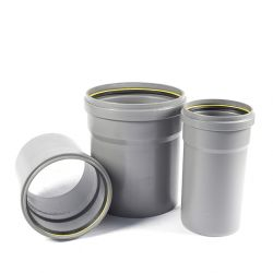 PVC buis/opzetstuk grijs GEMOFT diam.250 - 50cm