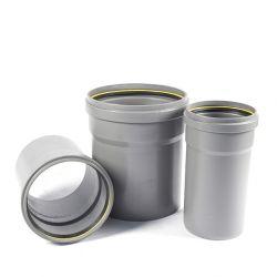 PVC buis/opzetstuk grijs GEMOFT diam.400 - 100cm