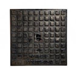 Putdeksel gietijzer nodulair 12.5T 100x100