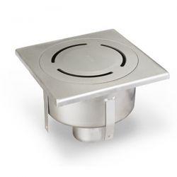 ACO EKO Home klokrooster inox mat 15x15