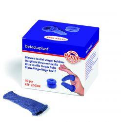 Detectaplast Blauwe textiel vinger bobbies (30 stuks)