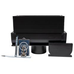 YU FastDrain 75 BLACK inspectieluik gesloten verticale afvoer