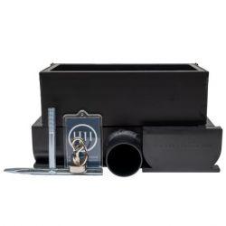 YU FastDrain 75 BLACK inspectieluik gesloten horizontale afvoer