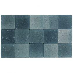 Klinker ongetrommeld zonder velling 15x15 grijs-zwart (pallet 11,7m²)