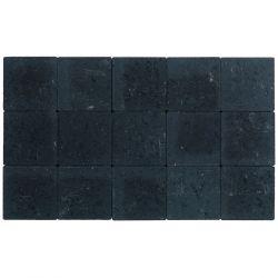 Klinker ongetrommeld zonder velling 15x15 zwart (pallet 11,7m²)