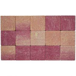 Klinker in-line trommeling 15x15 rose-rood (pallet 11,7m²)