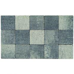 Klinker in-line trommeling 15x15 grijs-zwart (pallet 11,7m²)