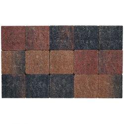 Klinker in-line trommeling 15x15 bruin-zwart (pallet 11,7m²)
