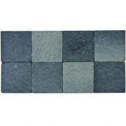 Klinker in-line trommeling 20x20 grijs-zwart (pallet 12,48m²)