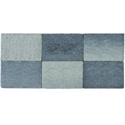 Klinker in-line trommeling 20x30 grijs-zwart (pallet 12,48m²)