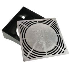 CellR kelderventilatierooster 24x24cm aluminium