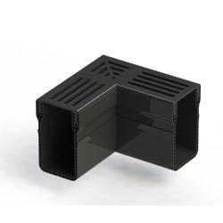 Elegant Drain 65/100 L-stuk alu rooster zwart