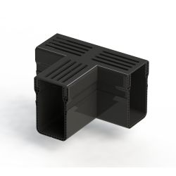 Elegant Drain 65/100 T-stuk alu rooster zwart
