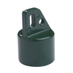 Eindkap diam.42mm + beugel diam.76mm groen