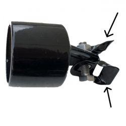 Hulpstukje voor beugel (vlindertje) zwart