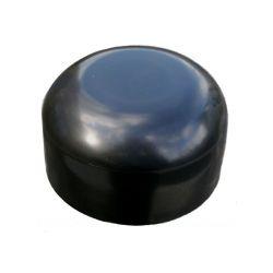 PVC paaldop 48mm zwart