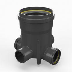 Toezichtsput PE diam. 250 - 4x110mm