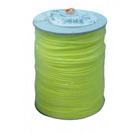 Touw nylon 50m - 2mm fluogeel