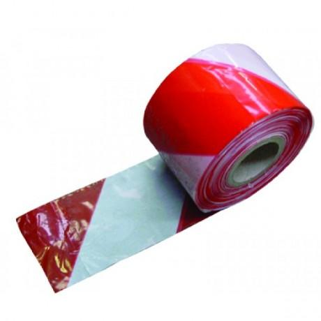 Signalisatielint 75mmx200m rood-wit