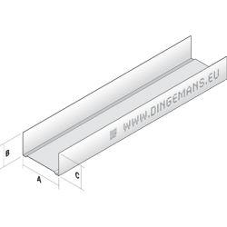 Metal stud wand horizontaal (U) 50mm - 4 m