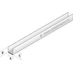 Metal stud plafond U27 (rand) - 3 m
