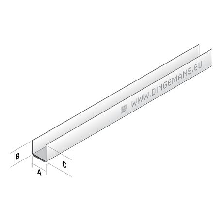Plafondprofiel U27 (rand) - 3 m