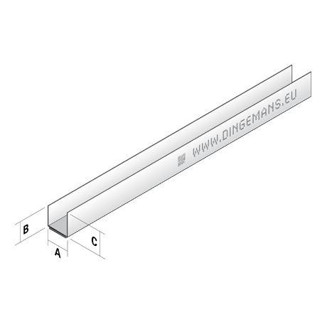 Plafondprofiel U27 (rand) - 4 m