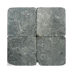 Klinkers getrommeld 15x15 grijszwart (per stuk)