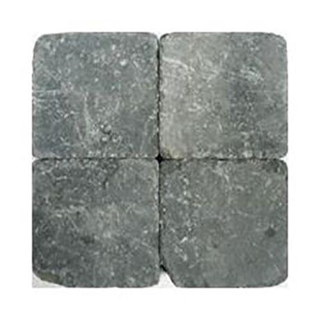 Klinkers getrommeld 15x15 grijszwart